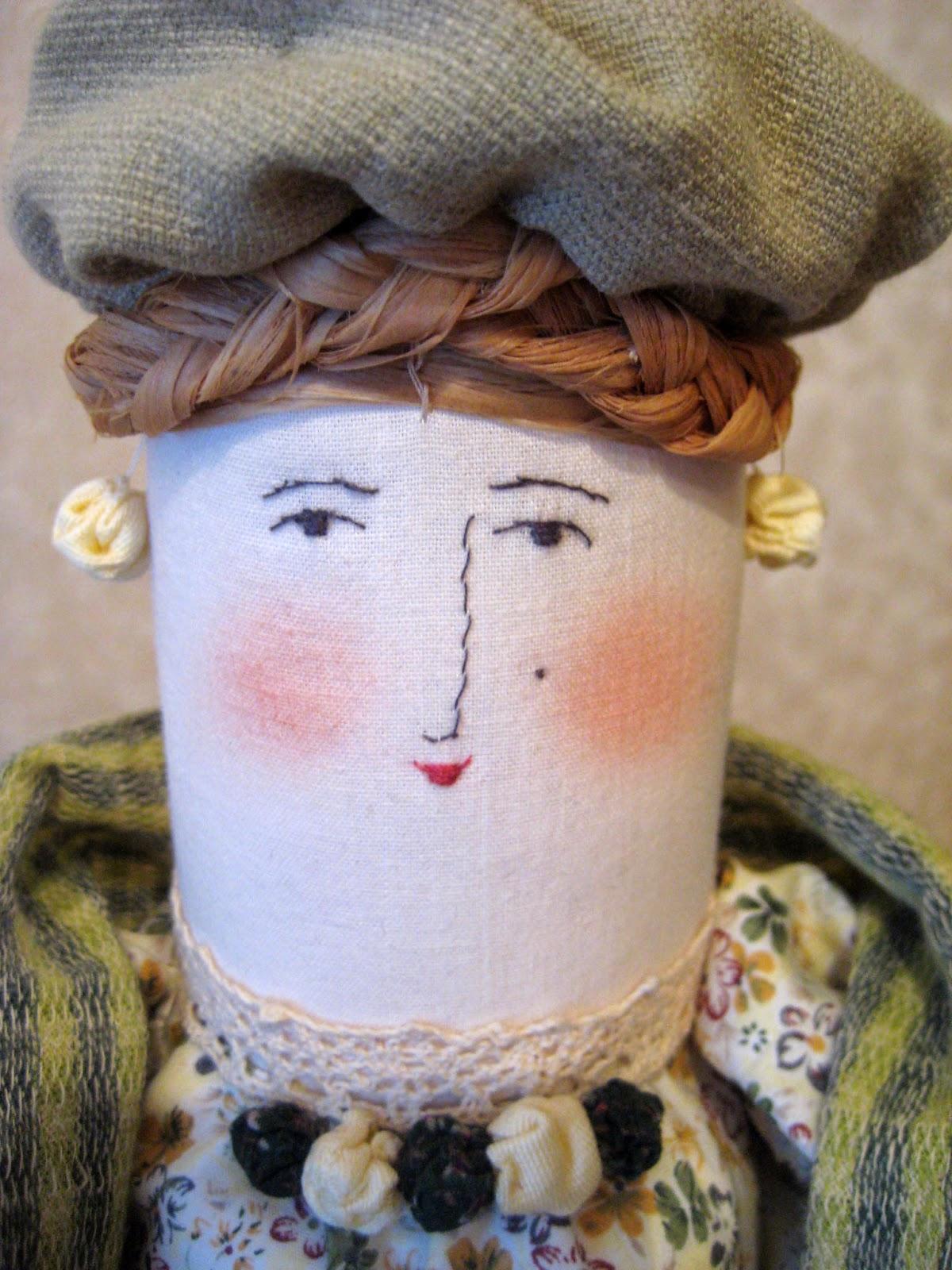 как вышить лицо кукле