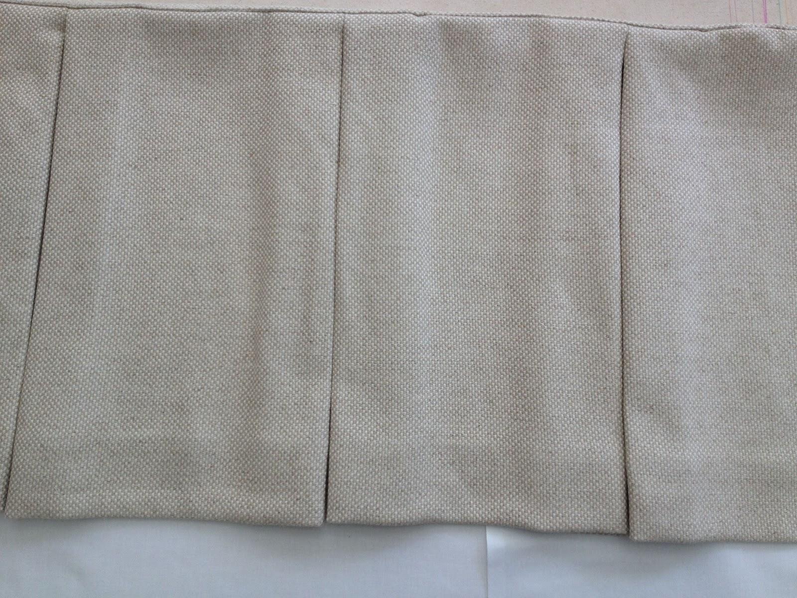 sew box pleat bed skirt