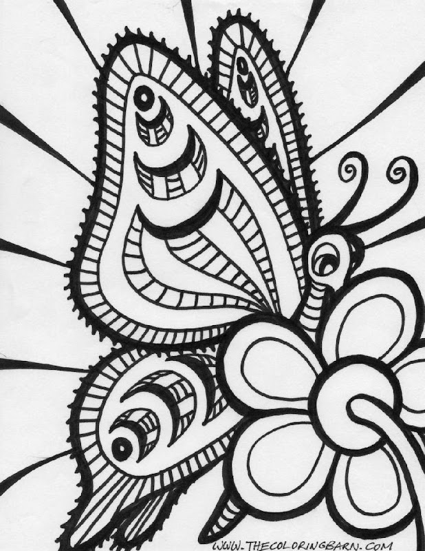 Printable Adult Coloring Pages Butterflies