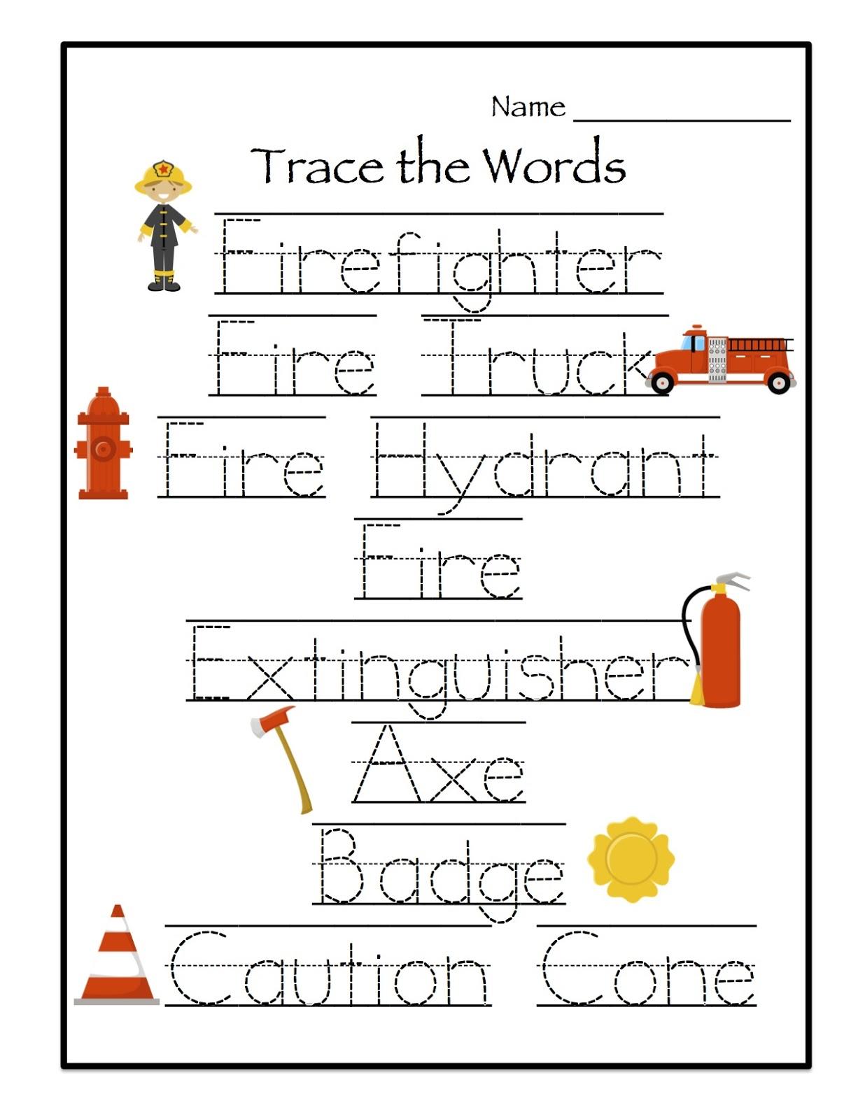 Preschool Printables: Firefighter Printable