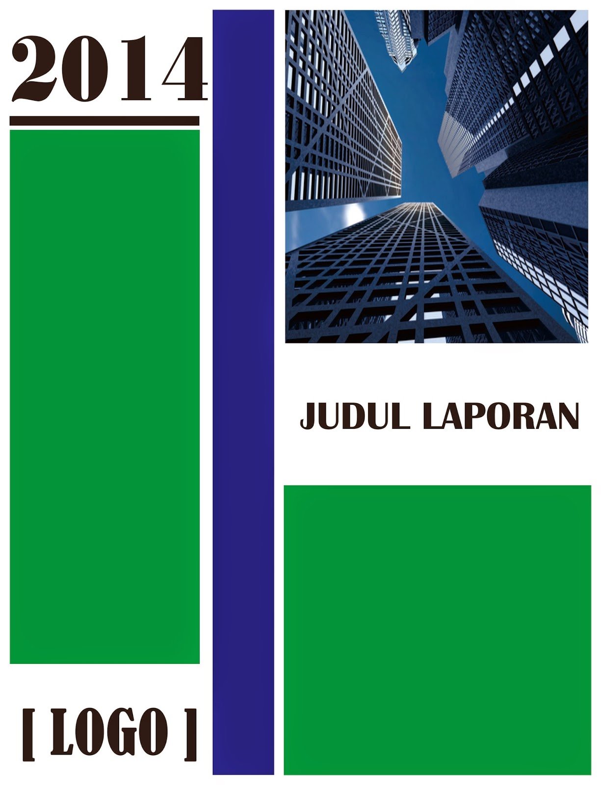 Download Cover Laporan Biru Hijau Download Contoh Cover Laporan