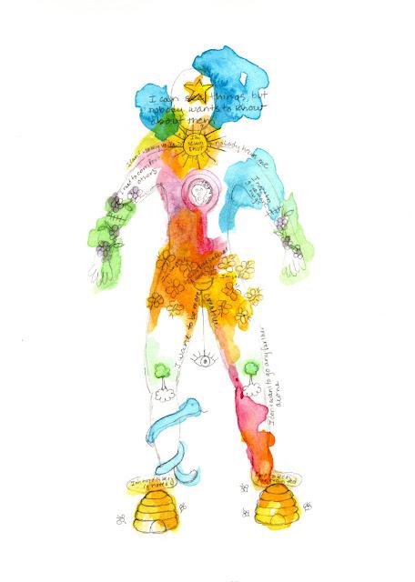 drawing painting body healing illness