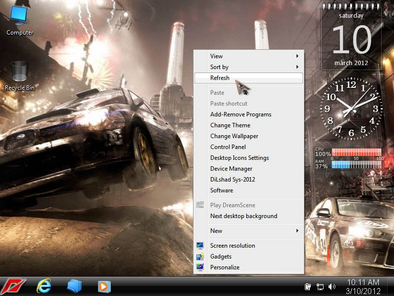 Windows 7 Ultimate SP1 Need For Speed Edition 2012 64-bit