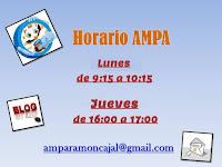 Horarios AMPA