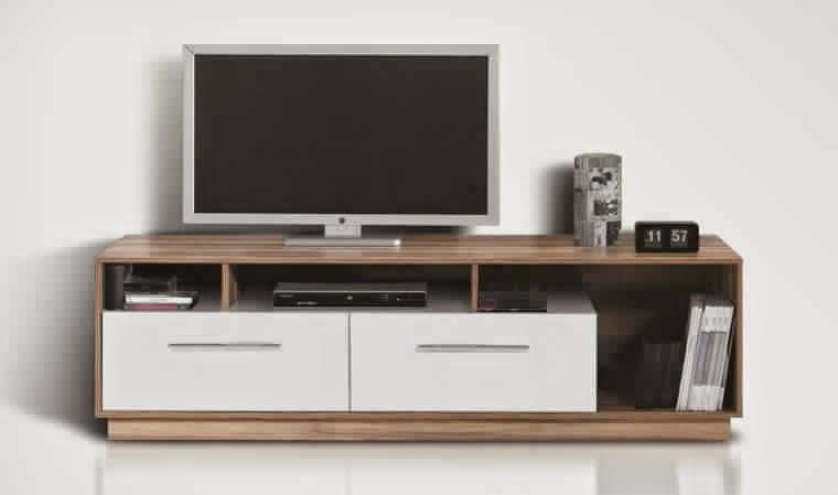 Meuble tv meuble tv for Meuble tv bois blanc pas cher
