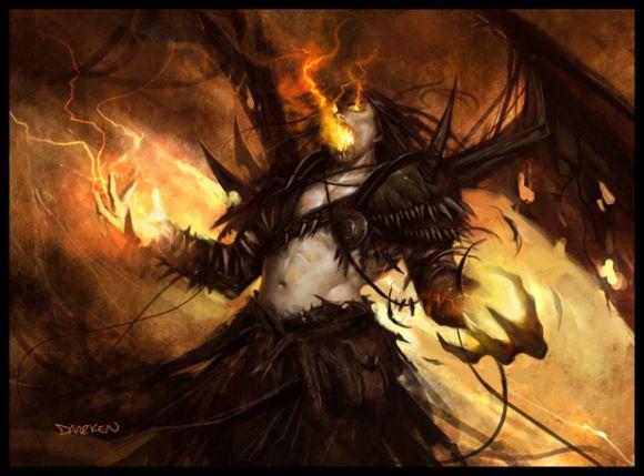 mike lim daarken ilustrações fantasia medieval violência batalhas monstros arte conceitual video games Homem dragão