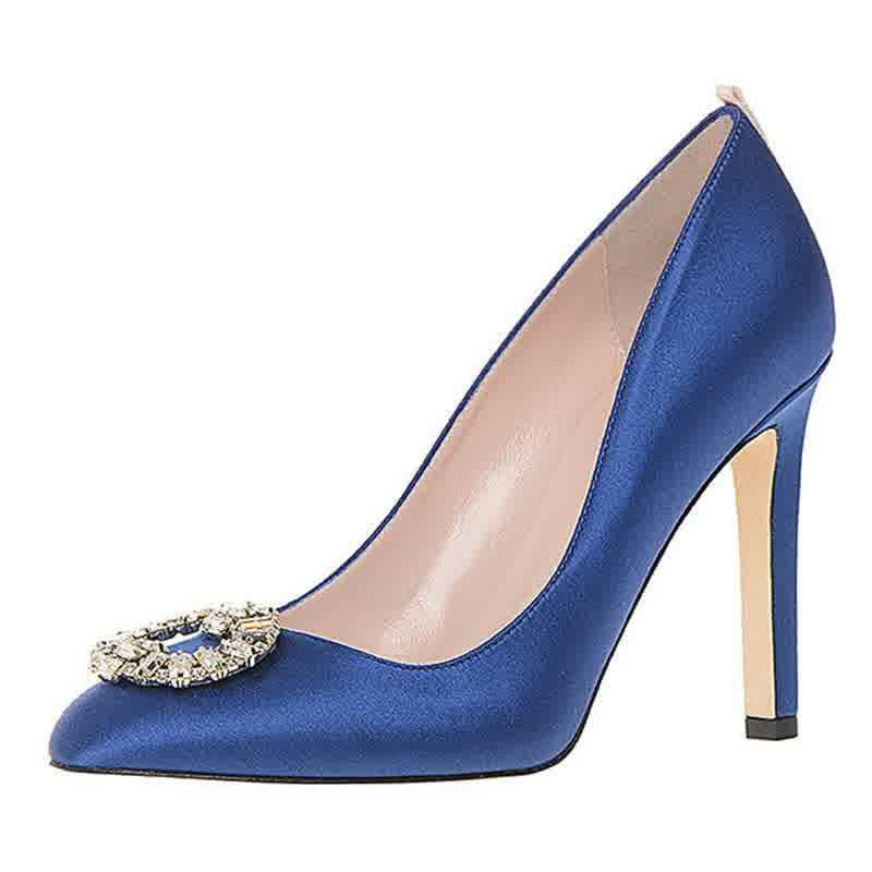 Nordstrom Blue Satin Bridal Shoes Trend