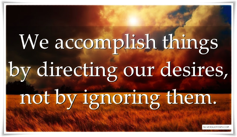 We Accomplish Things By Directing Our Desires