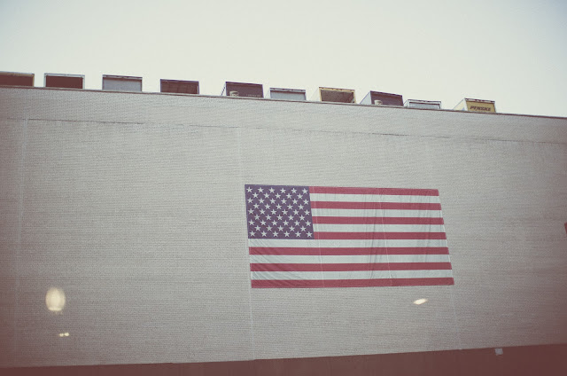 America, flag, Manhattan, New York, photography