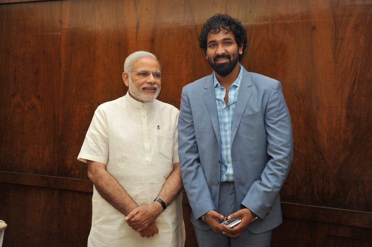 Manchu Vishnu with Prime Minister Modi