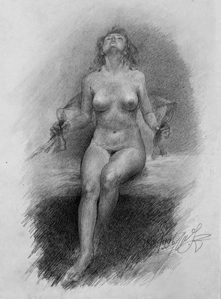 dibujos-de-mujeres-sentadas