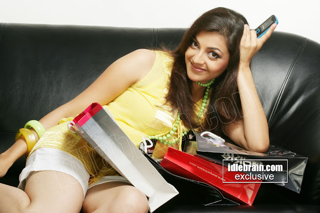 Kajal Agarwal Yellow top photoshoot- H H Hot pics