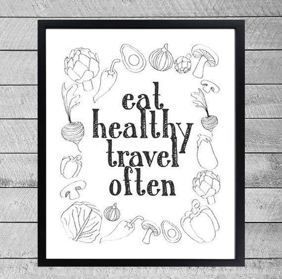 mangia sano / viaggia spesso