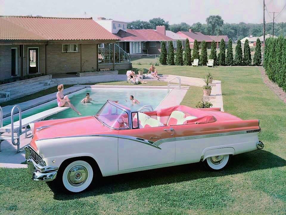 1956 Ford Fairlane Sunliner Convertible In Fab Two Tone With Matching Interior Fabrics