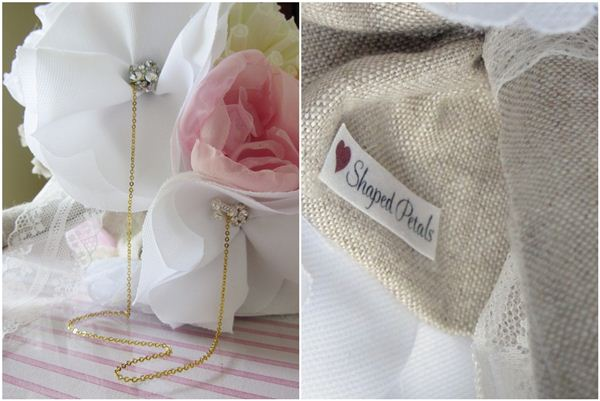 Heart Shaped Petals fabric bouquets