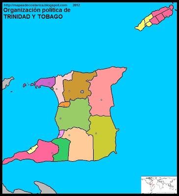 TRINIDAD Y TOBAGO, Mapa de la organización política de TRINIDAD Y TOBAGO