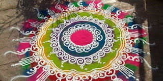 rangoli art on sankranti