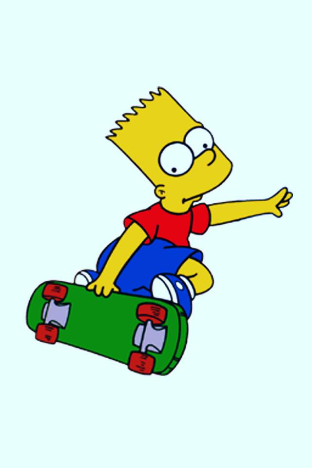 Bart Simpson Skateboarding
