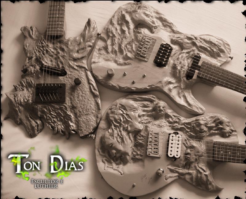 guitarras personalizadas, guitarras customizadas, luthier em bh