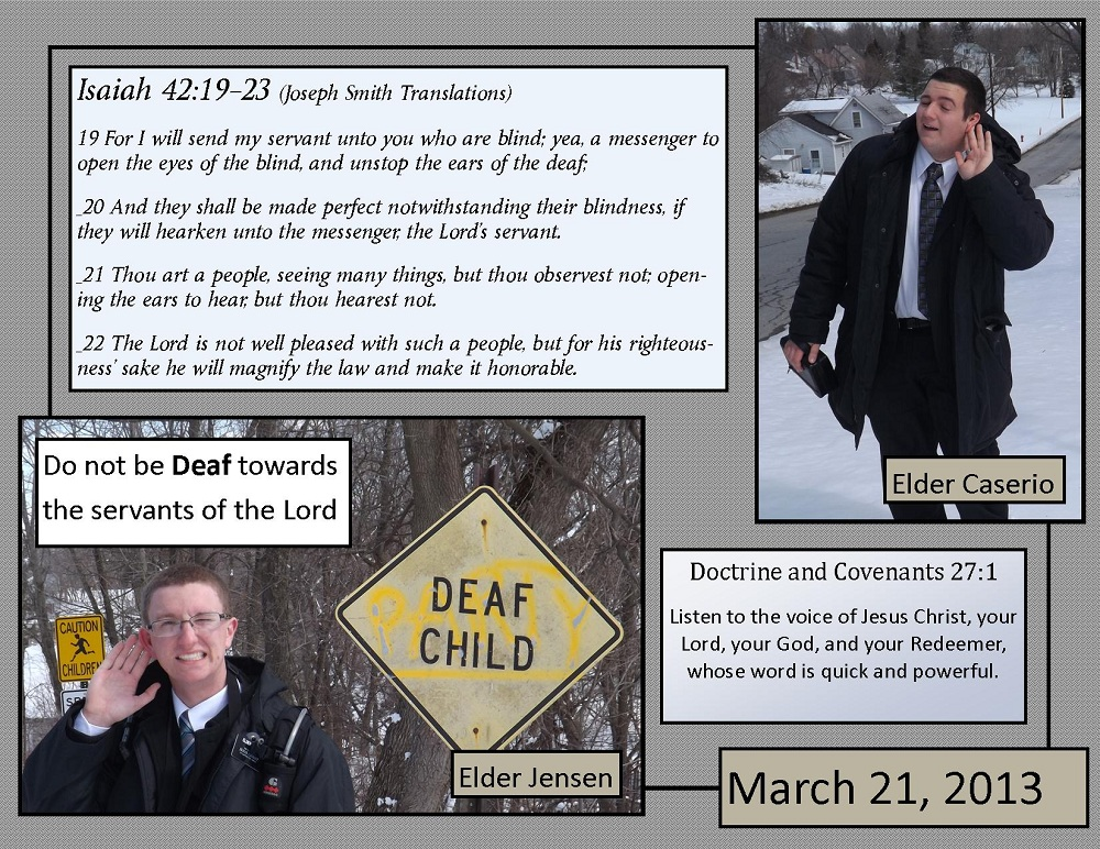 March 21, 2013 - Hear the word of the Lord