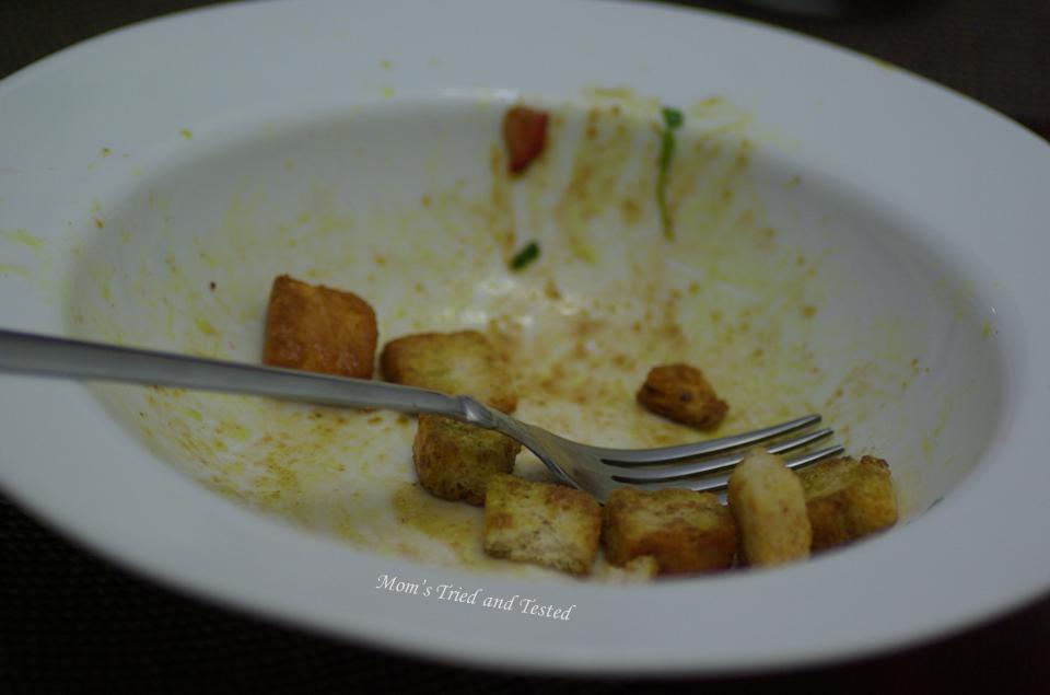 Empty salad plate