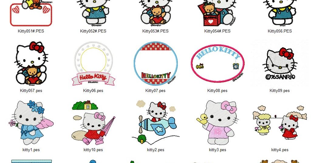 Hello kitty embroidery designs free machine
