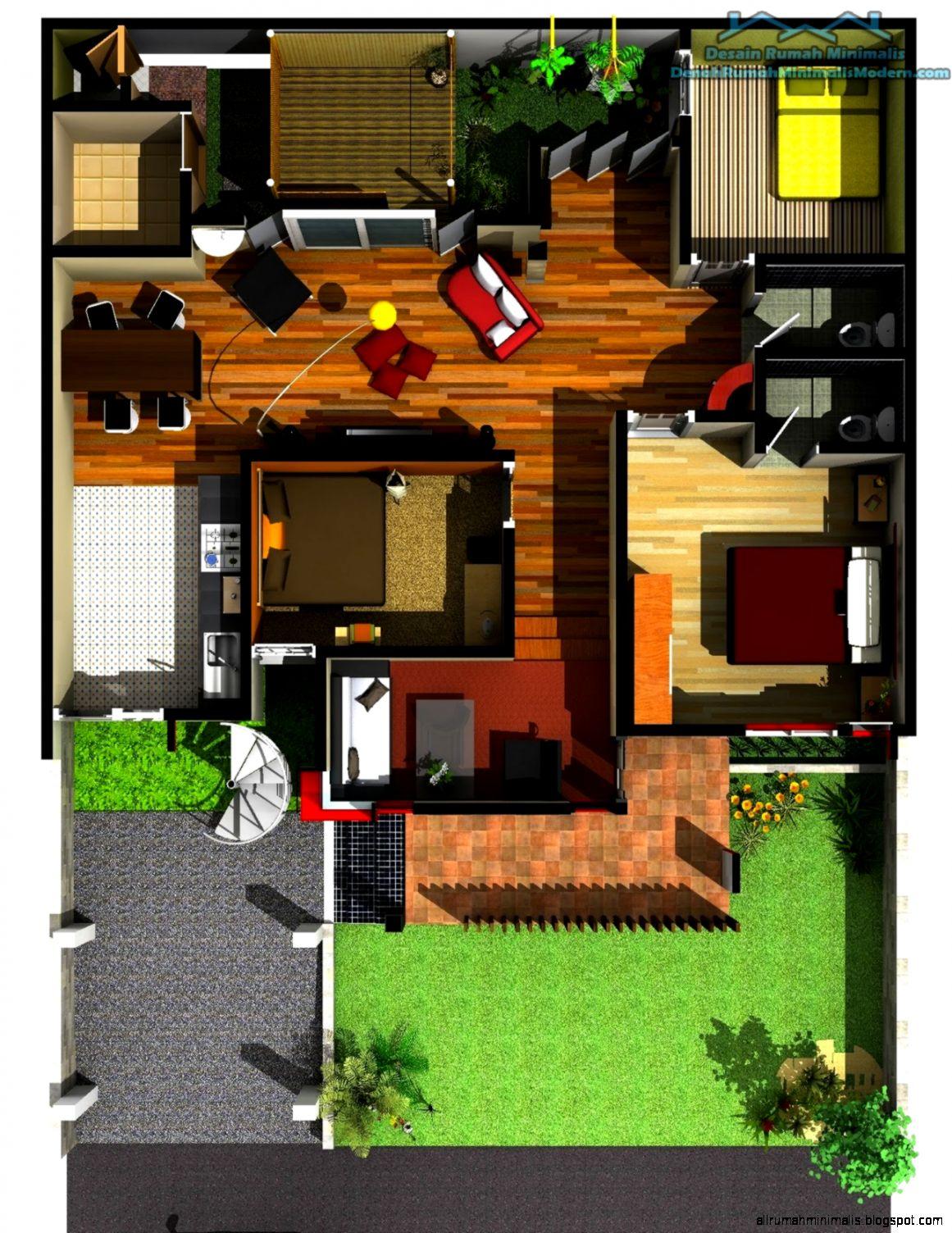 Gambar Denah Rumah Minimalis 1 Lantai Terbaru 2015