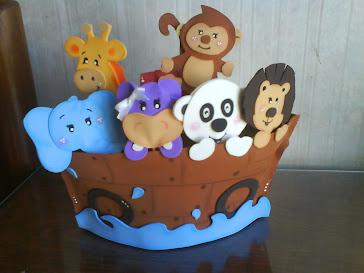 adorno de torta arca de noè