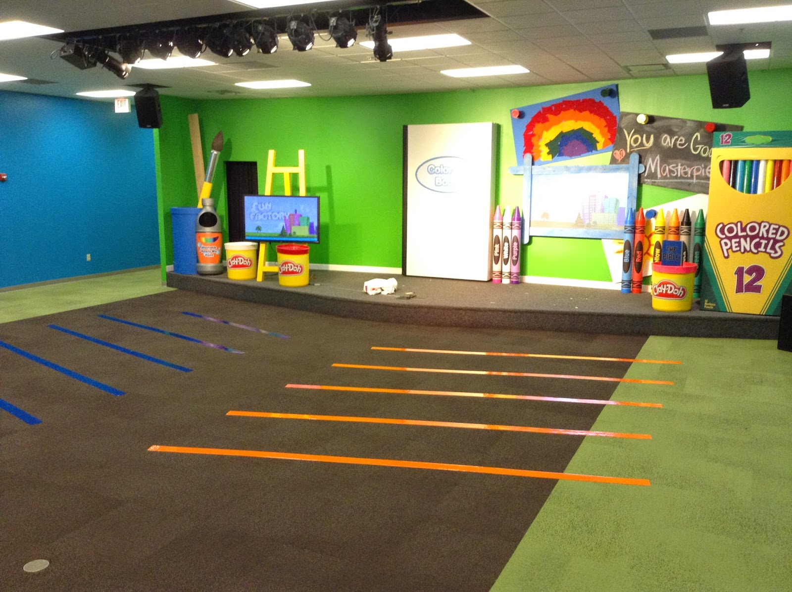 Classroom Worship Ideas : Simple kidmin creative seating for children s ministry