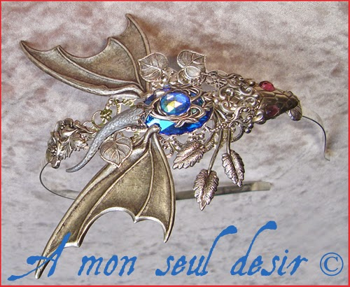 Serre-tête dragon médiéval fantasy bijou Daenerys Targaryen Mother of Dragons Valyria Khaleesi Jewel Headband Headdress