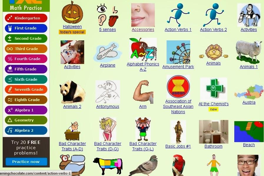 اول وافضل موقع لتعليم اللغة الانجليزية للحضانة والابتدائى عام ولغات وتجريبى 2222