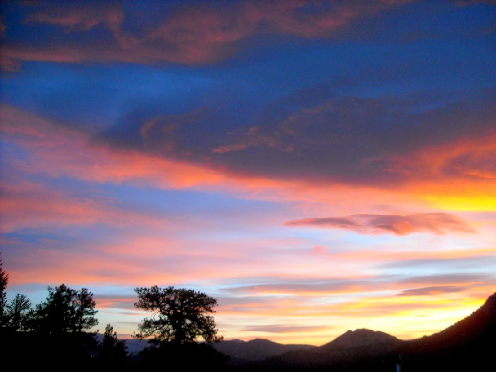 Morning Sky Over Estes Park