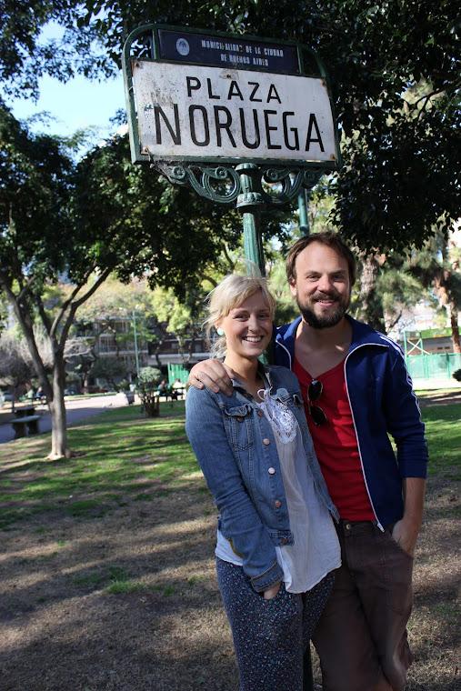 Synva og Andreas på Plaza Noruega