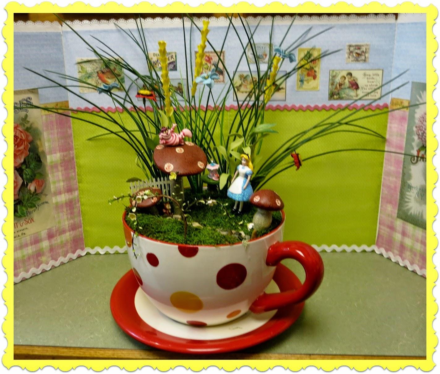 zetta 39 s aprons alice fairy garden very merry un birthday ForAlice In Wonderland Fairy Garden