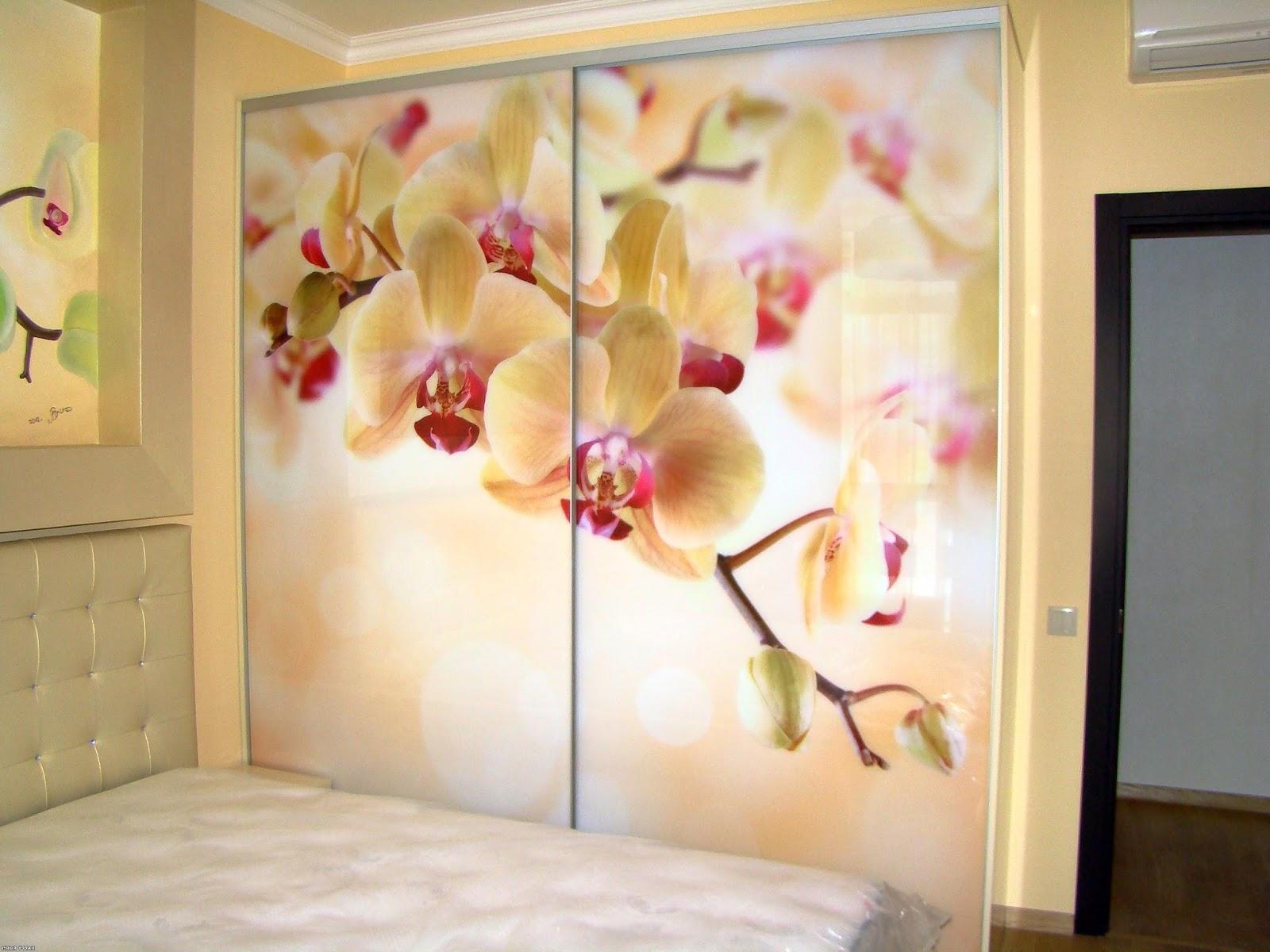 Купейные двери с цветами фото