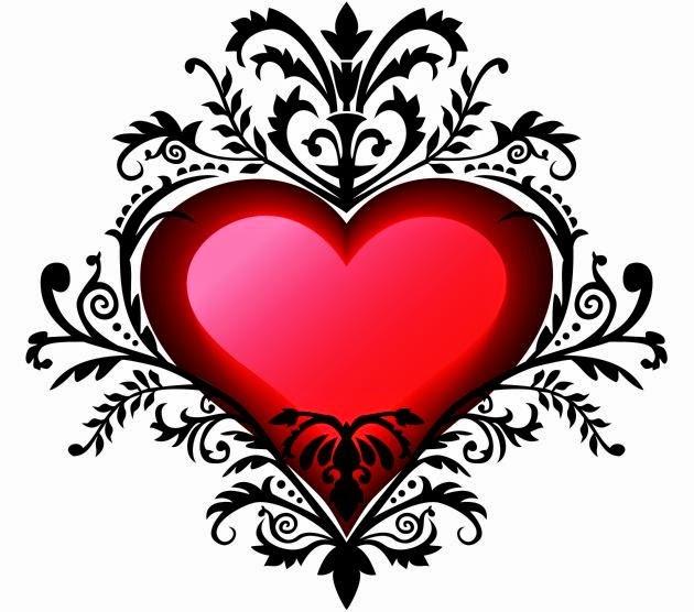 Los dibujos de corazones mas lindos imagui - Corazon de fotos en pared ...