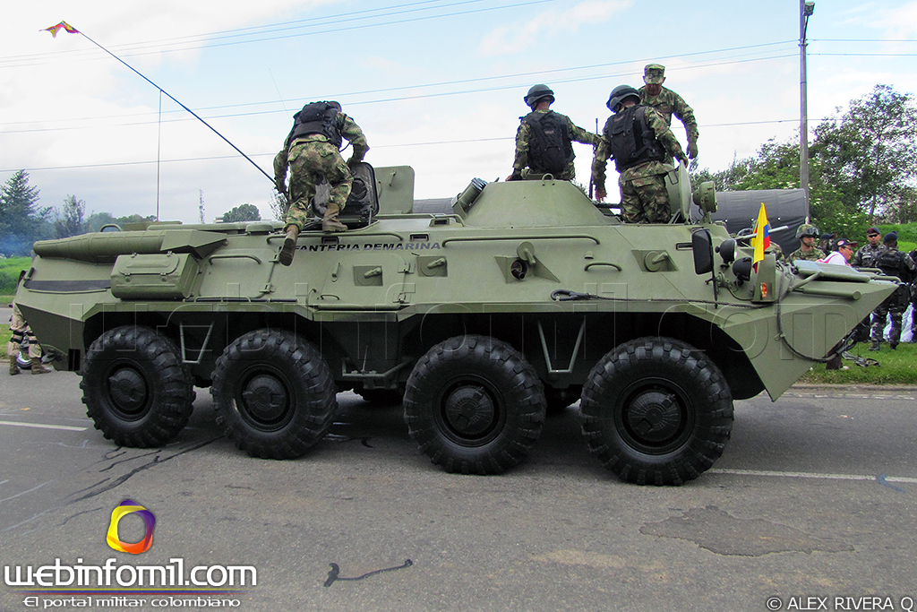 Colombian Armed Forces. BTR-80_Blindado_Infanteria_Marina+Colombia