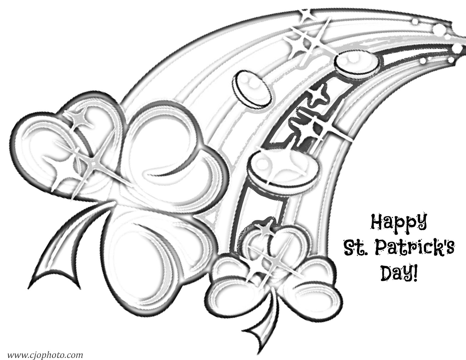 graphic regarding Printable St.patrick Day Coloring Pages identify CJO Picture: St. Patricks Working day Coloring Website page: Pleased St