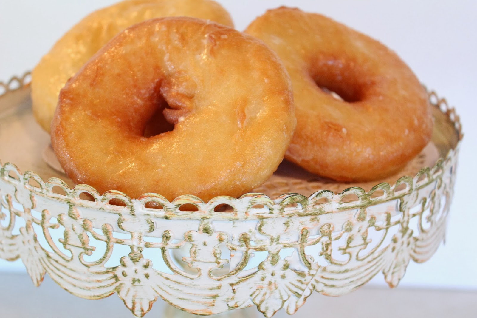 ... recipe was adapted from All Recipes Crispy Creamy Doughnuts here