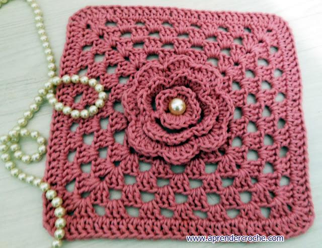 aprender croche quadrados square video-aulas gratis edinir-croche tapetes