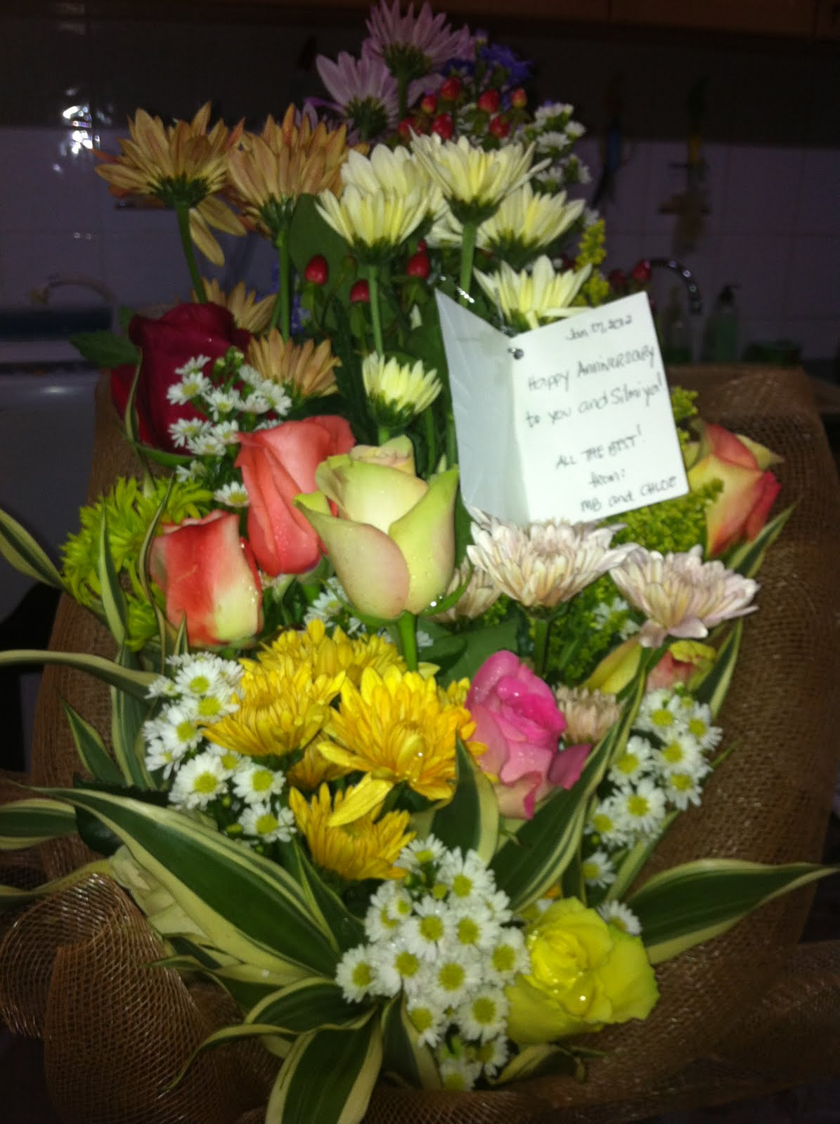11th wedding anniversary flowers from boss