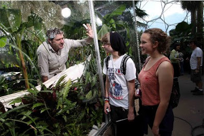 Professor Iain Stewart in his Eden Project experiment