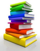Illustration of a stack of books