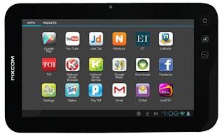 Tabletku, Pixcom Pixtab Turbo Smartfren - 512 MB - Hitam