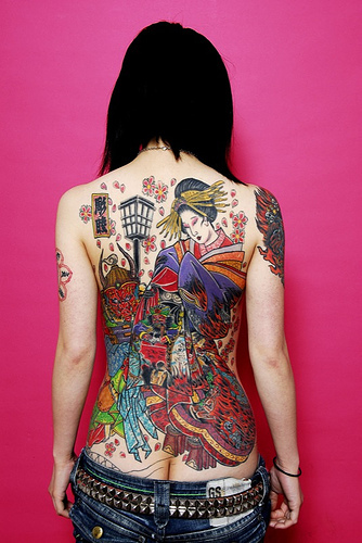 back tattoo girl design
