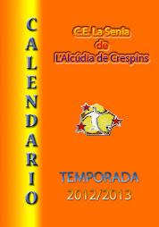 CALENDARIO TEMPORADA 12/13