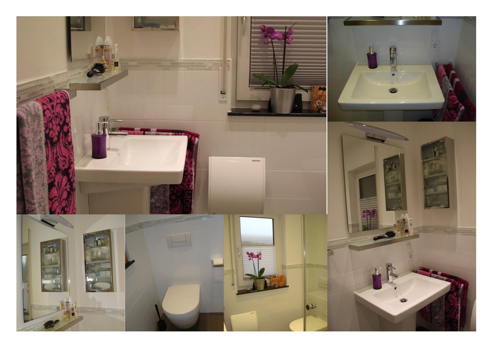 Badezimmer Heller Boden Dunkle Wand Wandfarbe schwarz beispiele für