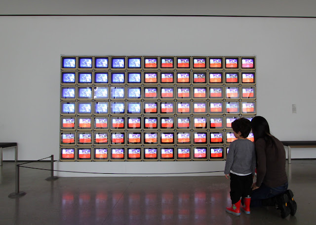 Nam June Paik, Video Flag Z, LACMA Los Angeles County Museum of Art