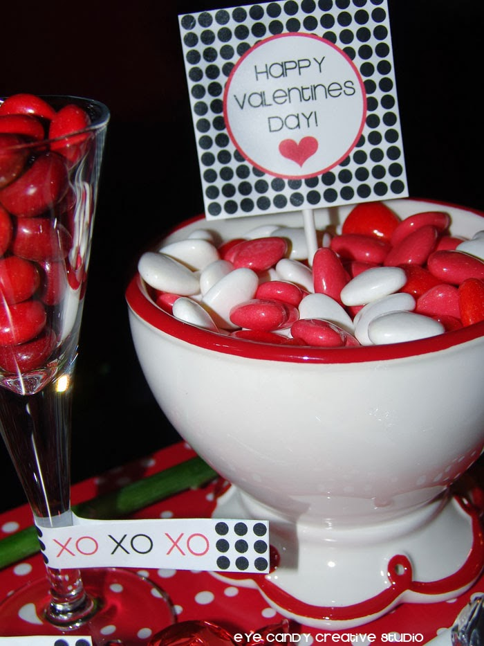 FREE Valentines drink glass flags, FREE Valentines toppers and gift tags