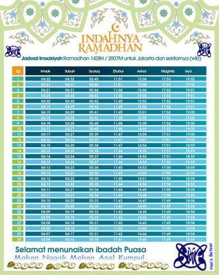 Jadwal Imsakiyah Ramadhan 1434 H – 2013